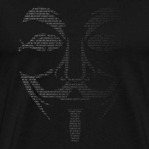 Anonymous Mask Text Black - Men's Premium T-Shirt