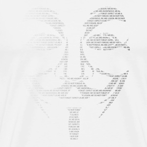 Anonymous Mask Text White - Men's Premium T-Shirt