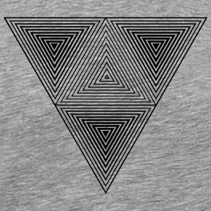Optical illusion (Hipster Dreick) B&w Art  T-Shirts - Männer Premium T-Shirt