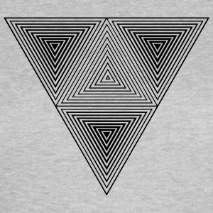 Optical illusion (Hipster Dreick) B&w Art  T-Shirts - Frauen T-Shirt