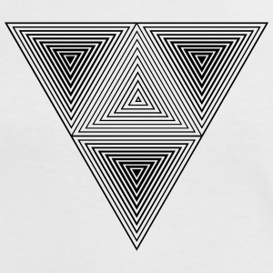 Optical illusion (Hipster Dreick) B&w Art  T-Shirts - Frauen Kontrast-T-Shirt