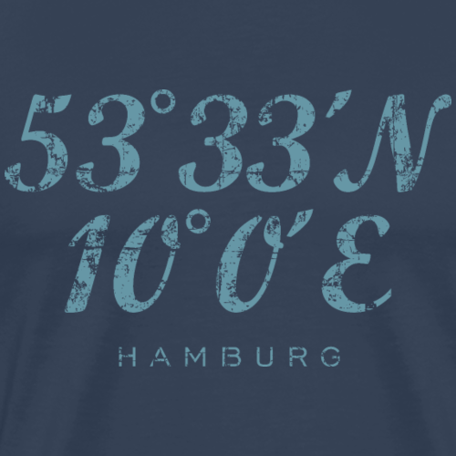 Hamburg Koordinaten Vintage Hell