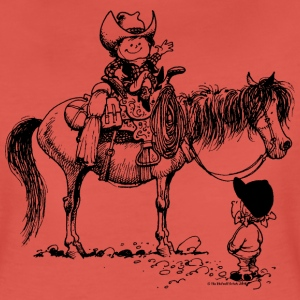 Thelwell Cowboy with his Pony - Women's Premium T-Shirt