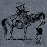 Design ~ Thelwell Cowboy with his Pony