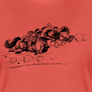 Thelwell Western Pony run away - Women's Premium T-Shirt