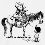 Motiv ~ Thelwell Cowboy with his Pony