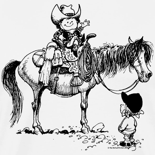 Thelwell Cowboy with his Pony