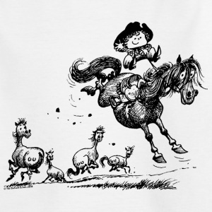 Thelwell Western Rodeo - Kids' T-Shirt