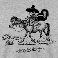 Design ~ Thelwell Cowboy with a skunk