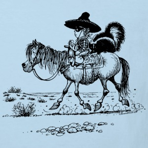 Thelwell Cowboy with a skunk - Kids' Organic T-shirt