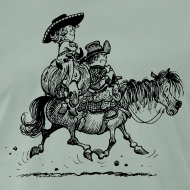 Motiv ~ Thelwell Two cowboys with Ponies