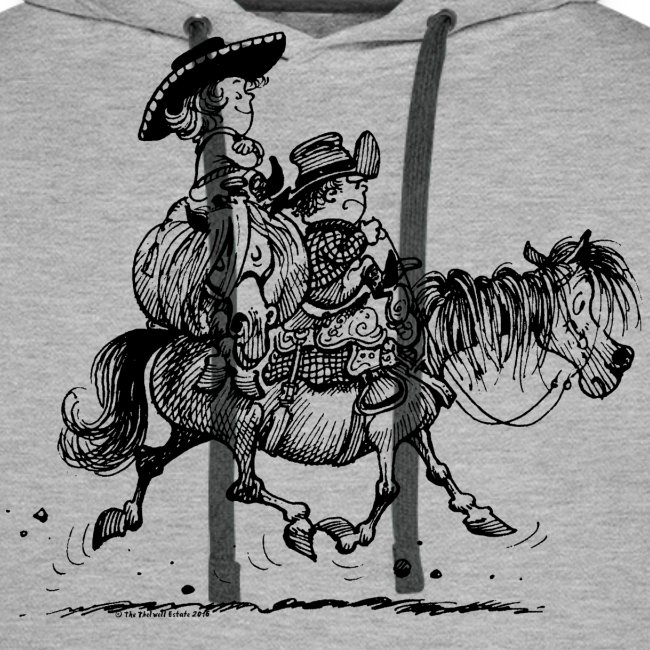 Thelwell Two cowboys with Ponies