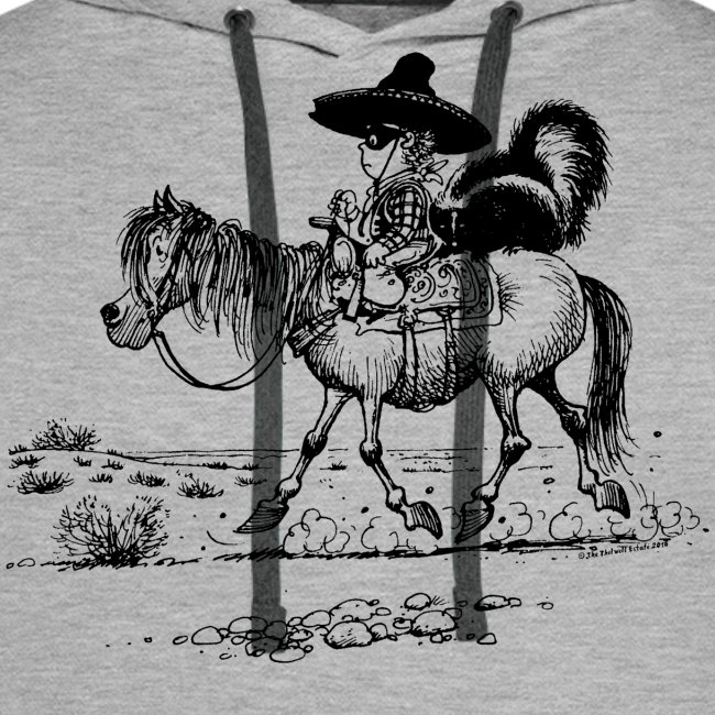 Thelwell Cowboy with a skunk