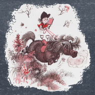Design ~ Thelwell Pony outside in the nature