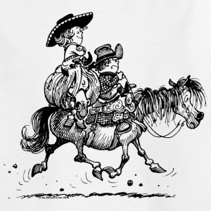 Thelwell Two cowboys with Ponies - Kids' T-Shirt