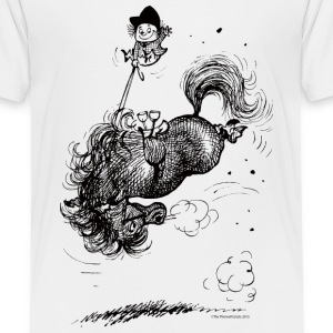 Thelwell Pony leap-frog - Kids' Premium T-Shirt