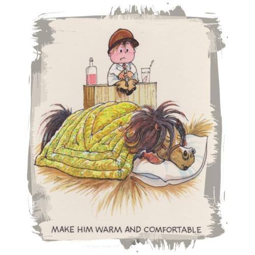 Thelwell - Pony unter der Bettdecke