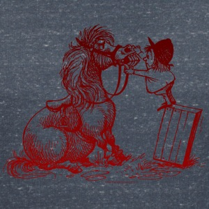 Thelwell Pony with dentist - Women's V-Neck T-Shirt