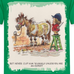 Thelwell Pony with hairdresser - Kids' Premium T-Shirt