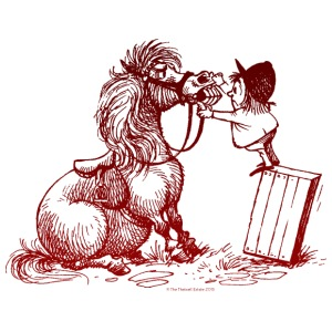 Thelwell - Pony bei der Zahnkontrolle