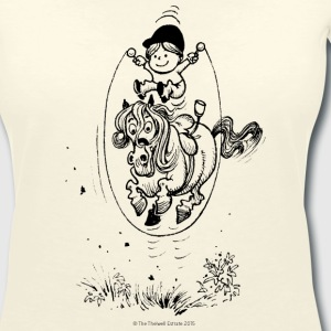 Thelwell Pony with skipping rope - Women's V-Neck T-Shirt