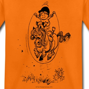 Thelwell Pony with skipping rope - Kids' Premium T-Shirt
