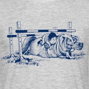 Thelwell Pony under oxer - Men's T-Shirt