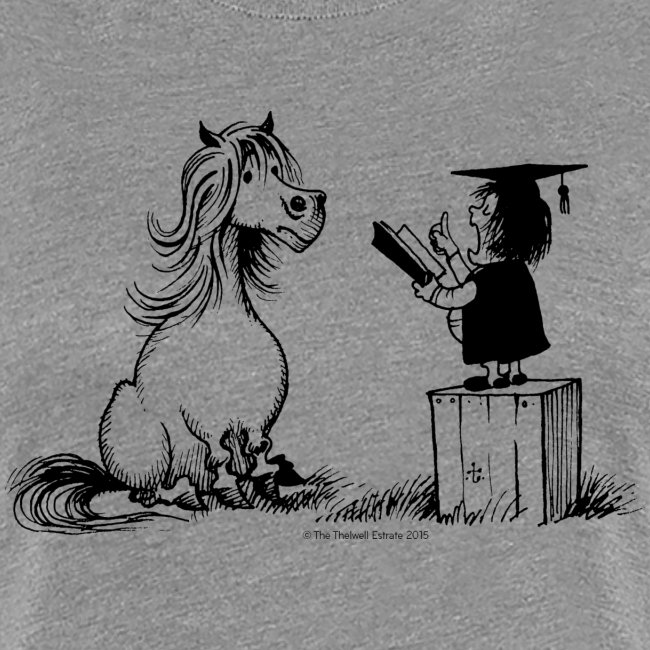Thelwell Pony learning at school