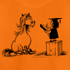 Motiv ~ Thelwell Pony learning at school