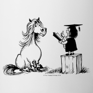 Design ~ Thelwell Pony learning at school