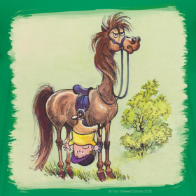 Motiv ~ Thelwell Pony Rider is headlong