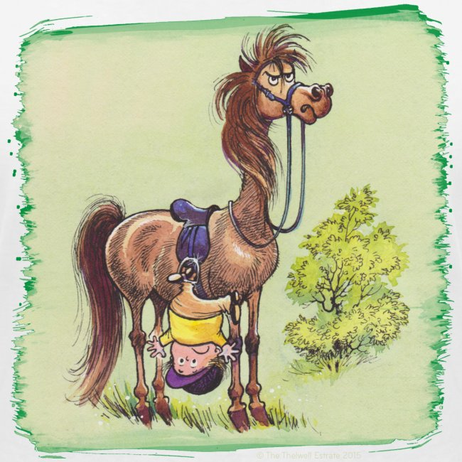 Thelwell Pony Rider is headlong
