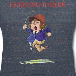 Thelwell Learning to ride - Women's V-Neck T-Shirt