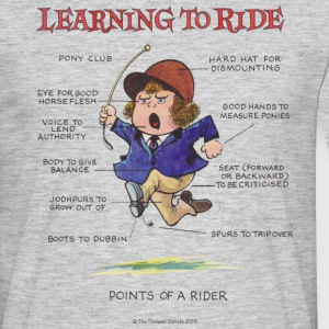 Thelwell Learning to ride - Men's T-Shirt
