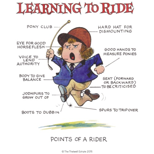 Thelwell - Learning to ride