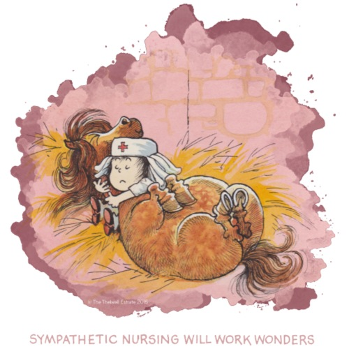 Thelwell - Pony hat Krankenbesuch