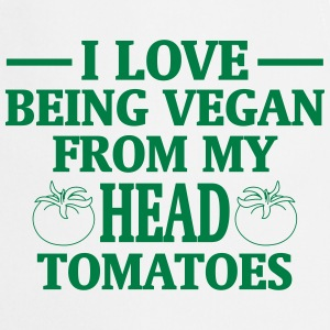 I LOVE ES VEGANS TO BE (FROM HEAD TO TOE) FROM MY HEAD TO MA TOES  Aprons - Cooking Apron