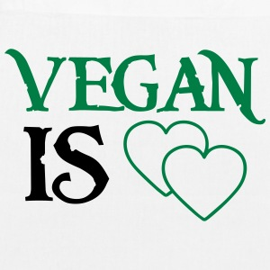VEGAN MEANS LOVE! Bags & Backpacks - EarthPositive Tote Bag