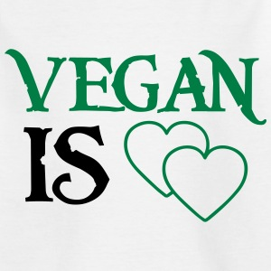 VEGAN MEANS LOVE! Shirts - Kids' T-Shirt