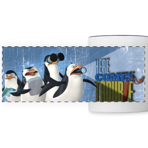 Penguins 'Here comes trouble' - Panoramic Mug