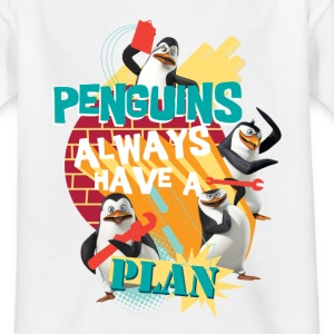 Pinguine 'Penguis have a plan' - Teenager T-Shirt
