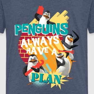 Pinguine 'Penguis have a plan' - Teenager Premium T-Shirt
