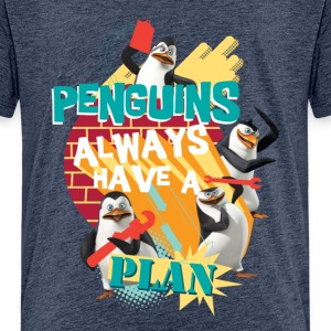 Penguins 'Penguis have a plan' - Teenage Premium T-Shirt
