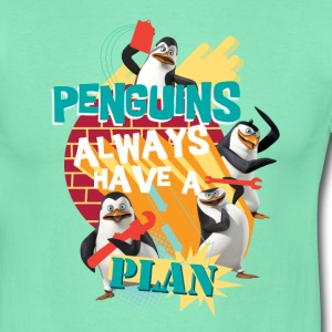 Pinguine 'Penguis have a plan' - Männer T-Shirt