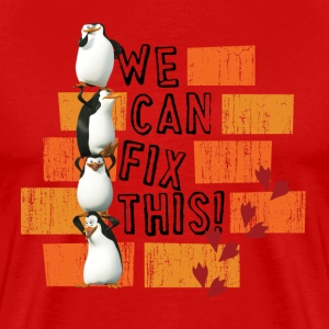 Pinguine 'We can fix this!' - Männer Premium T-Shirt