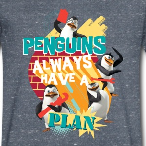 Penguins 'Penguis have a plan' - Men's V-Neck T-Shirt