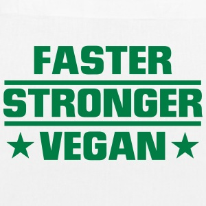 FASTER, STRONGER, VEGAN! Bags & Backpacks - EarthPositive Tote Bag