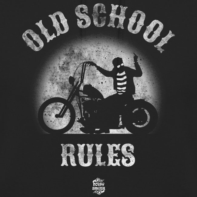Old School Rules sudadera con capucha