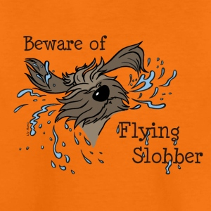 Beware of Flying Slobber - Teenager Premium T-Shirt