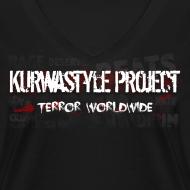 Design ~ Kurwastyle Project 2016 Women's V-neck T-Shirt